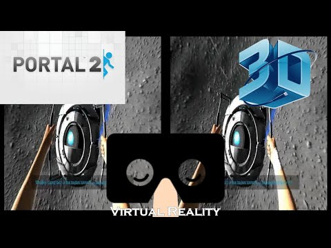 Portal 2 Ending (Version Française) VR,3D,Cardboard [Trinus VR] Lisez la description
