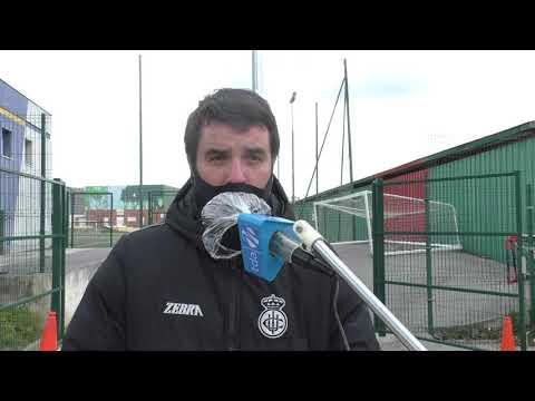Jornada 21. Aitor Zulaika, tras el encuentro Portugalete-Real Unión