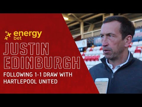 REACTION: Head Coach Justin Edinburgh following the 1-1 draw with Hartlepool United444