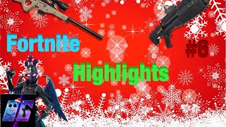 Fortnite Highlights #6 Season 6 Bass Boosted (Christmas Music) + EPIC SNIPE!