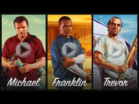 Grand Theft Auto V: All 3 Brand NEW Trailers! Michael, Franklin, Trevor (Trailers 3, 4, 5)