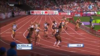 4x400m finale Zurich - Athlétisme Fr3 Dijon