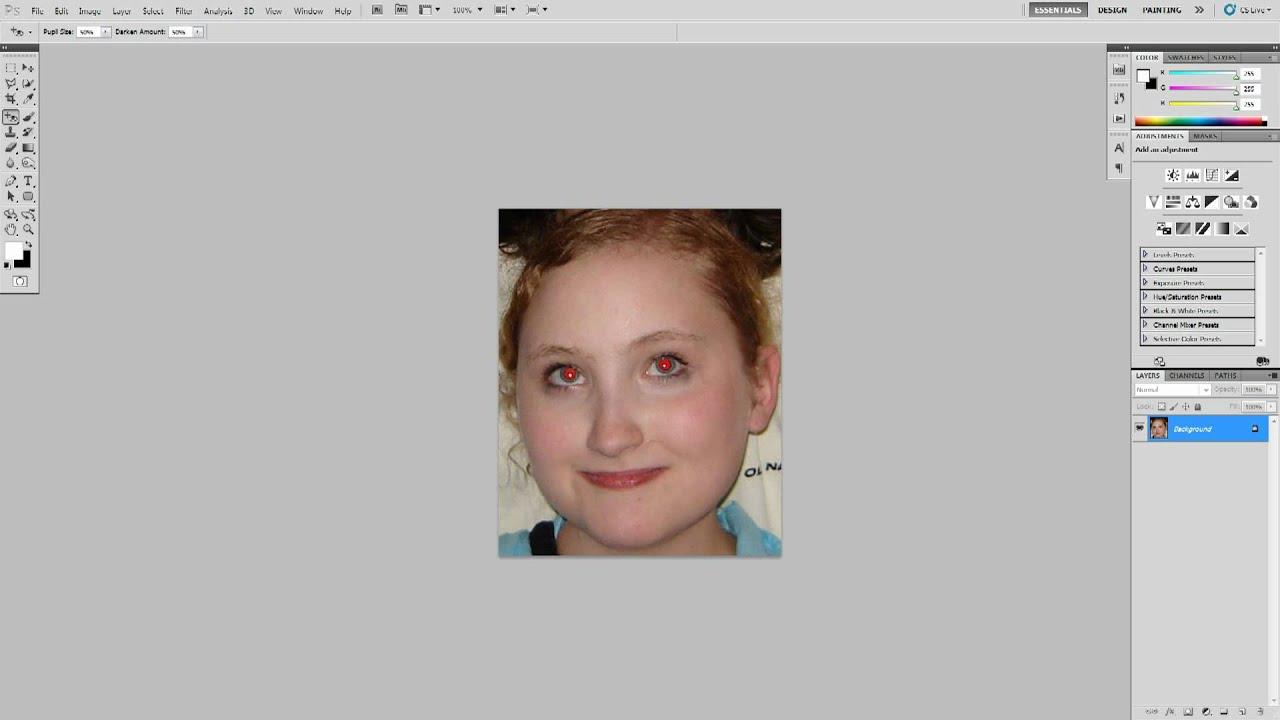 röda ögon i photoshop
