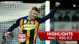 tipico Bundesliga, 14. Runde: Wolfsberger AC - FC Red Bull Salzburg 0:3