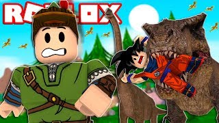SURVIVE THE CHALLENGE OF THE DINOSAURS IN ROBLOX!! (Dinosaurierjäger)