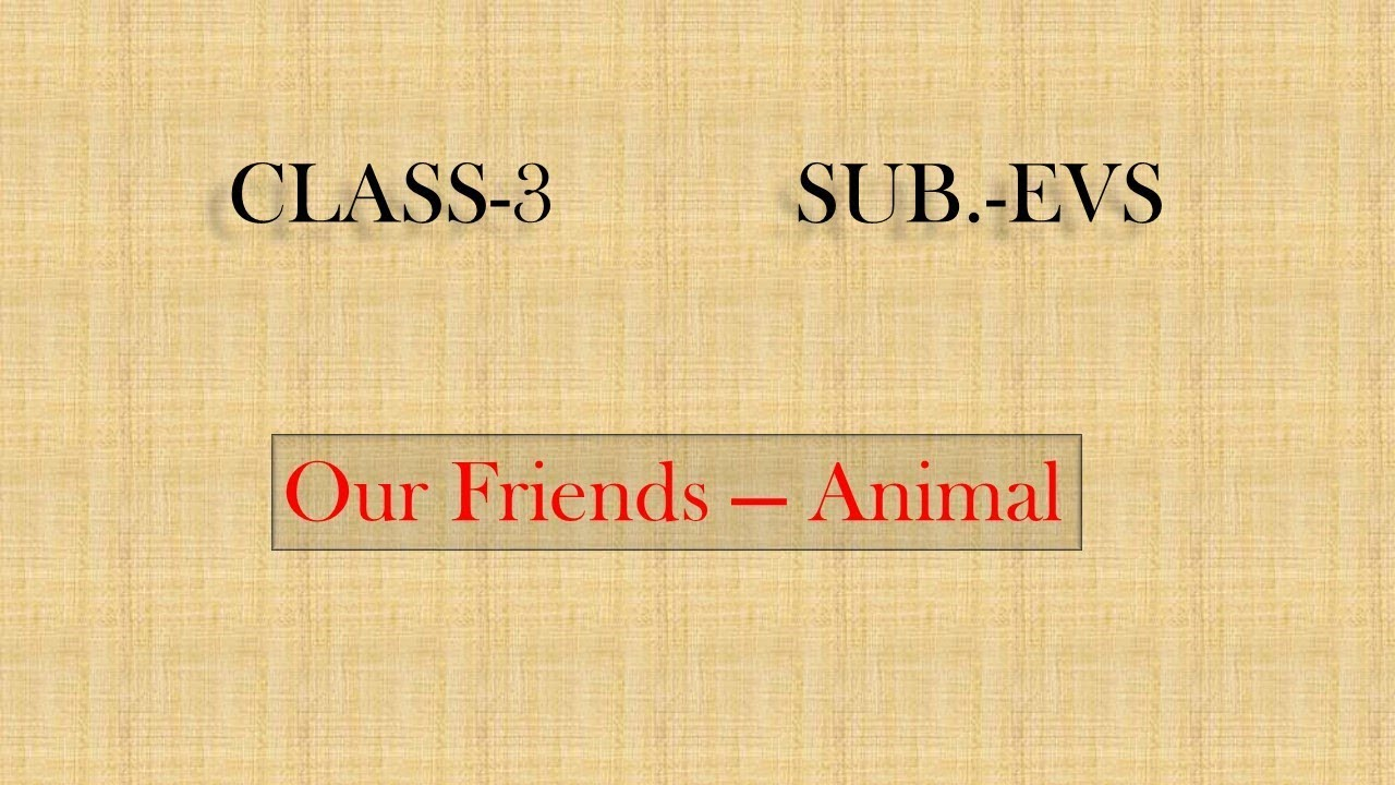 OUR FRIENDS ANIMAL NCERT EVS (CLASS-3) with Questions and Answers
