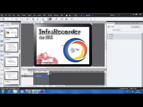 02 เริ่มต้นสร้างโปรเจค Adobe Captivate 6