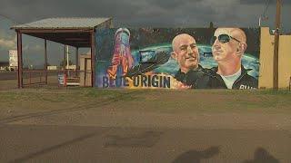Locals embrace Blue Origin mural in Van Horn, Texas
