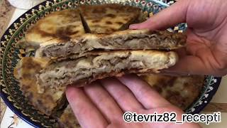 Катлама с мясом. Узбекская кухня.