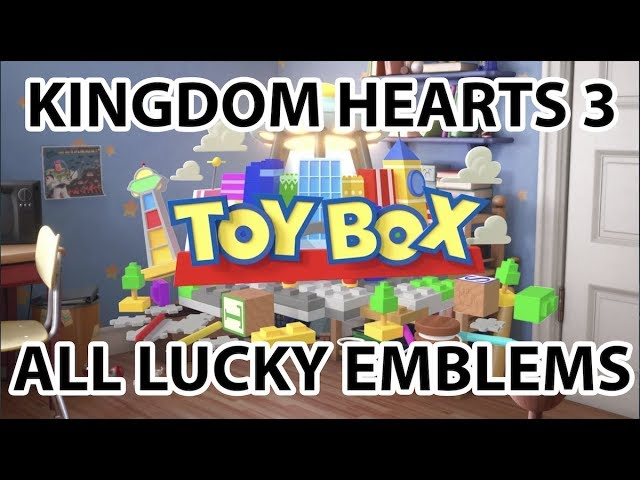 Kh3 Toy Box All Lucky Emblems Locations Mickey Emblems Youtube