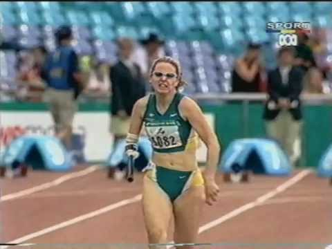 Sydney Paralympics Amy Winters 100m T46 final (wmv)