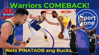 Warriors TINALO ang Lakers sa Likod ni Curry at Oubre. Nets with Harden, UNDEFEATED Pa Din
