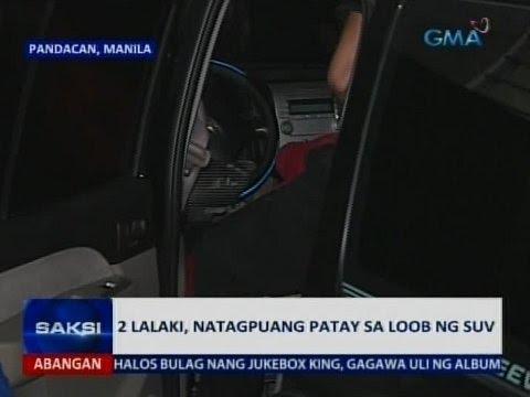 Saksi: 2 natagpuang patay sa loob ng SUV sa Pandacan, Manila