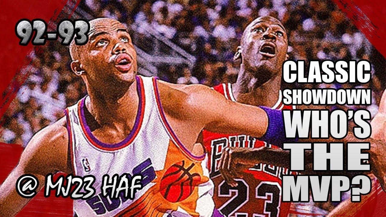 fe2904abeb001 Michael Jordan vs Charles Barkley Highlights Bulls vs Suns  (1992.11.22)-62pts Total! MVP SHOWDOWN!