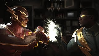 Injustice 2 : The Flash Vs Black Lightning - All Intro/Outros, Clash Dialogues, Super Moves