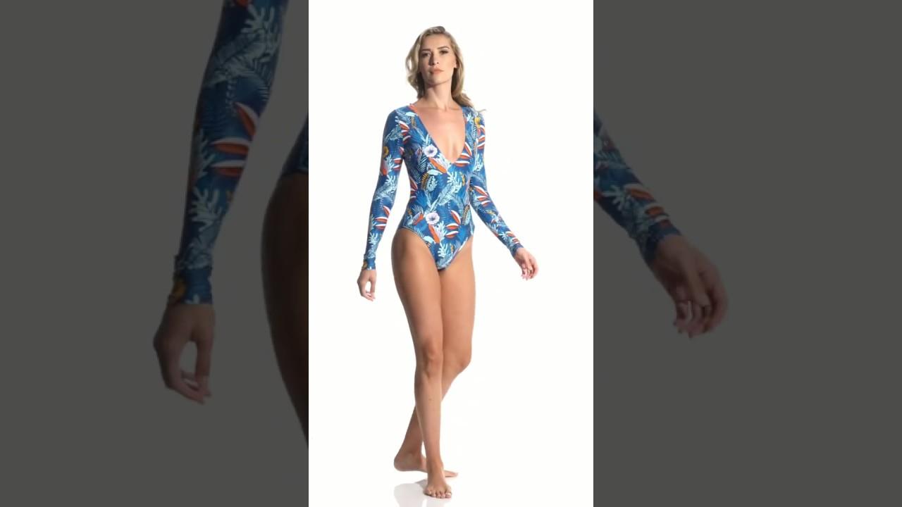 1ca3908377 Speedo Valentina Long Sleeve One Piece Swimsuit | SwimOutlet.com ...