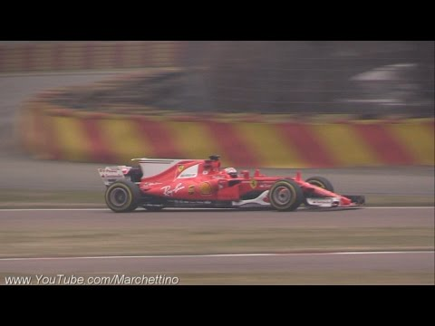 2017 Ferrari F1 SF70H First Shakedown & Engine Sound!