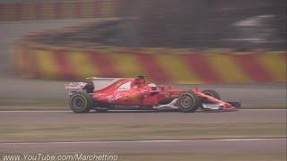 2017 Ferrari F1 SF70H First Shakedown & Engine Sound!