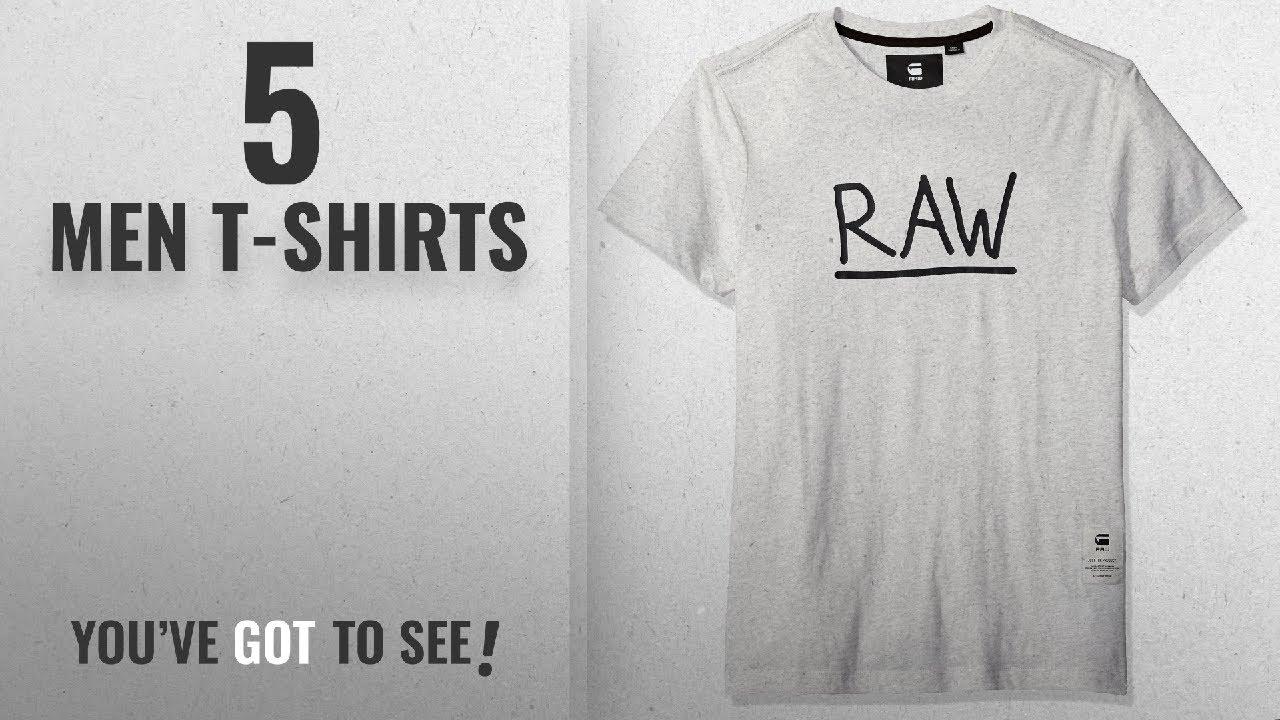 6750fbc441b G-Star Raw T-Shirts [ Winter 2018 ]: G-Star Raw Men's Manes Short Sleeve  Logo T-shirt,SnowHeather,L