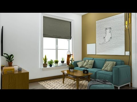render farm 3ds max: Nice Room Design (003) in 3ds max 2018 using vray 3.6, latest version of V-ray