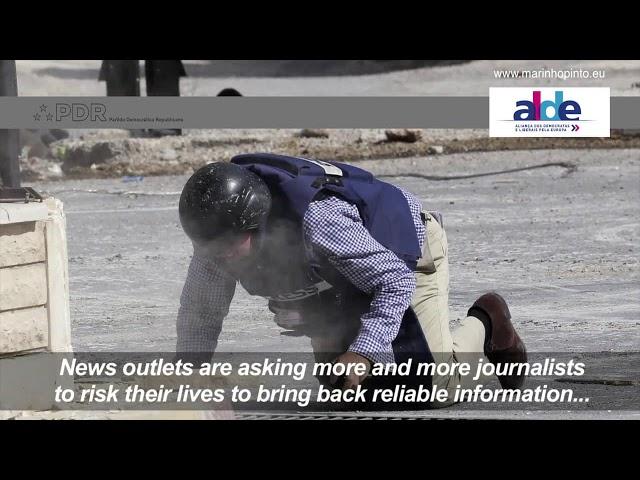 A agência noticiosa AFP, jornalistas e repórteres de guerra e de conflito armado