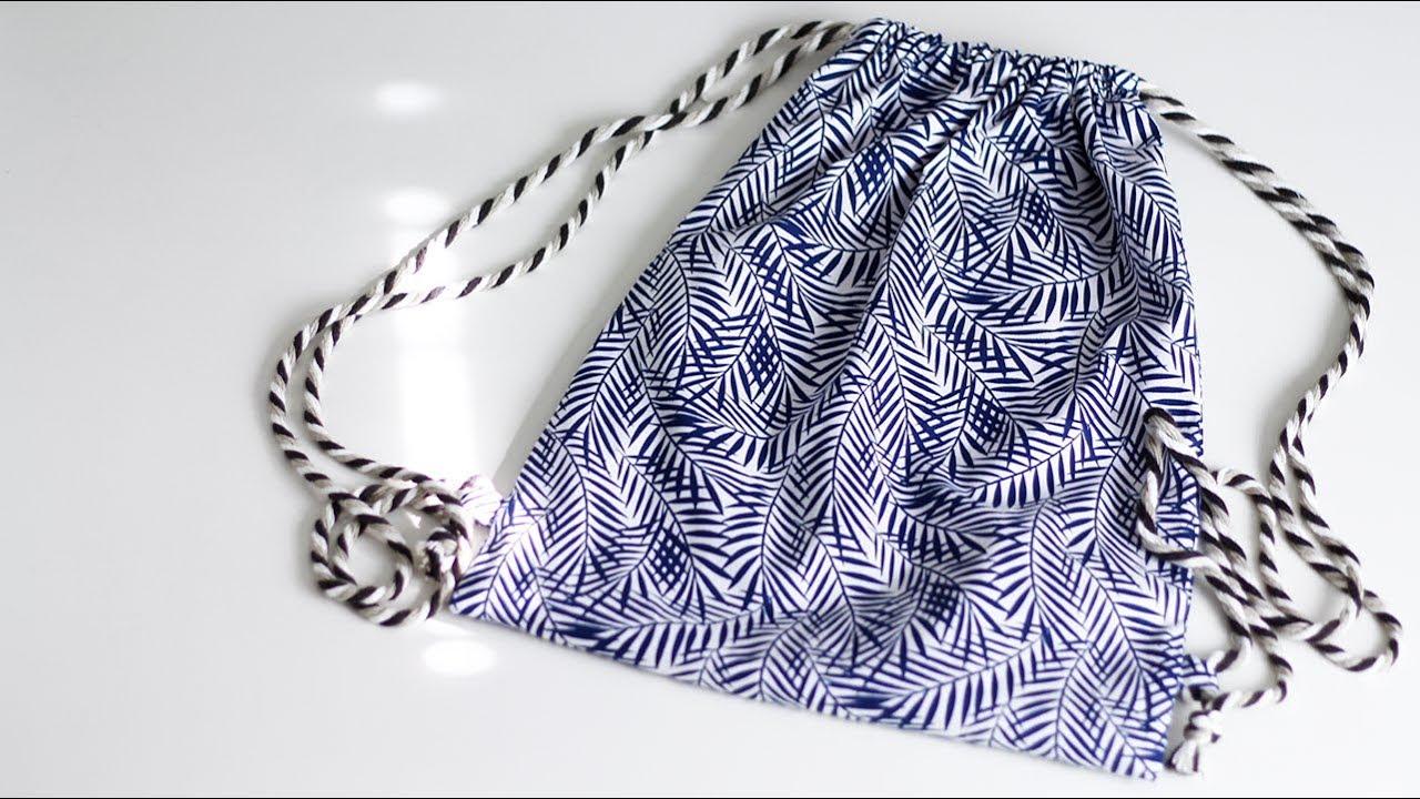 Cucire Una Sacca.Come Cucire Una Sacca Di Cotone Cucito Per Principianti