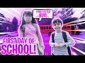 Their First Day Of School Together.. (SHE PROTECTED HIM)