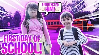 their-first-day-of-school-together-she-protected-him