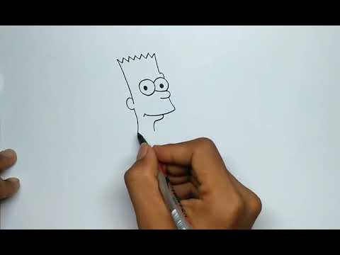 How To Draw Bart Simpson Face Step By Step Youtube