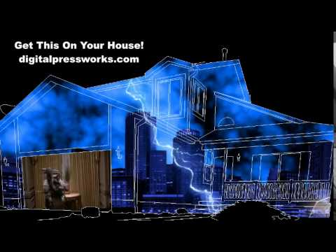 Ghostbusters Halloween House Projection Sample Updated