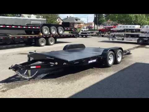 Sure Trac Steel Deck Open Car Hauler 7x20 9900# GVW Trailer ST8220CHS-B-100