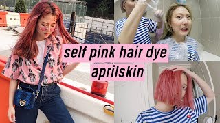 how to dye your hair pastel pink