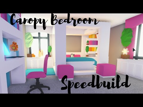 canopy-bed-with-custom-blanket-bedroom-speedbuild-roblox-adopt-me