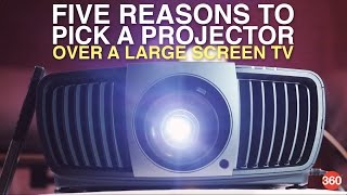Five Reasons to Pick a Projector Over a Large Screen TV