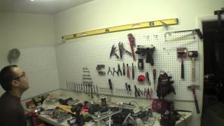 How To Build A Wall Shelf In The Garage For Under $20 (pt 2) [raw Footage]