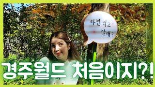 [EN/RU SUB](국제커플) 외국인 아내의 첫 한국 ★놀이공원★의 추억 _ 결혼 기념일 둘쨋날 V-LOG'