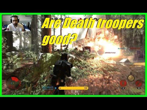 Star Wars Battlefront - Are the Death troopers good? | 2 tough HvsV games!