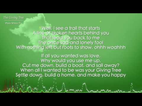 The Giving Tree - Plain White T's (Lyrics)