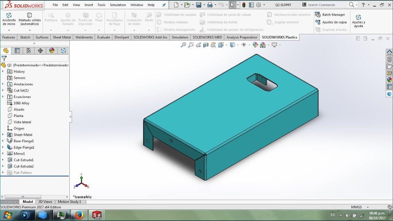 Cswpa Sheet Metal Examen De Certificaci 243 N Solidworks