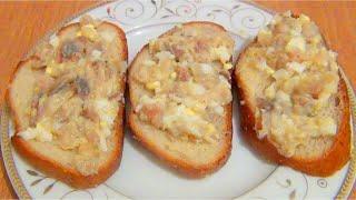 Быстрая закуска Селедочная намазка для бутербродов видео рецепт