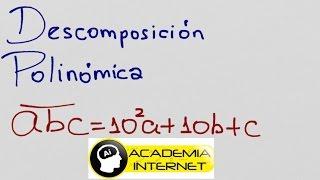 Descomposición polinómica de un número