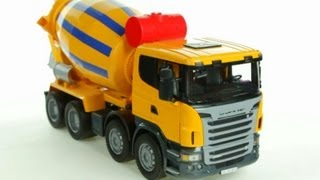 Scania R-Series Cement Mixer (Bruder 03554) - Muffin Songs' Toy Review