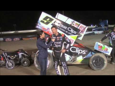 World of Outlaws STP Sprint Car Series Victory Lane at El Paso Speedway Park