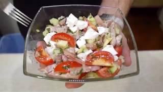Салат с тунцом и авокадо. Рецепт приготовления