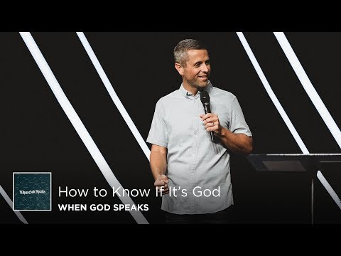 How to Know If It's God