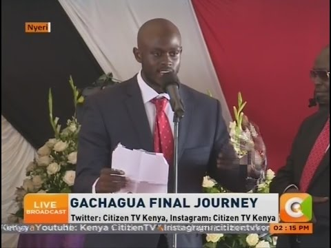 Gachagua's son  pays tribute to  his late  father