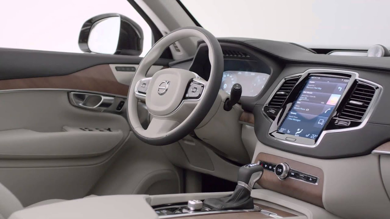 volvo xc90 - interni - youtube