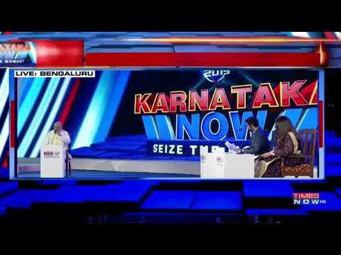 Shri Amit Shah attends Times Now's program 'Karnataka Now'.