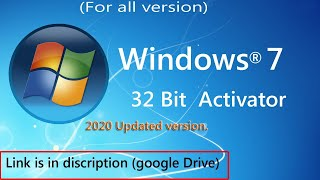 Activate Windows 7 Genuine Permanent activation for FREE with Activator 100% work 2020 version