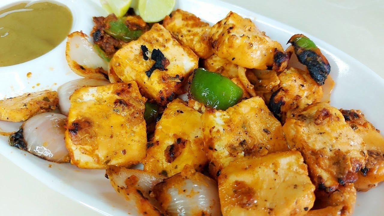 गैस स्टोव पे बनाएं तंदूरी पनीर टिक्का Paneer Tikka Recipe | How to make Paneer Tikka | Reet Recipes